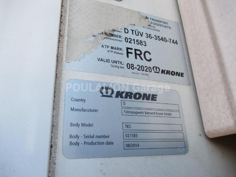 Semi-remorque Krone Cool Liner Frigo Multi température
