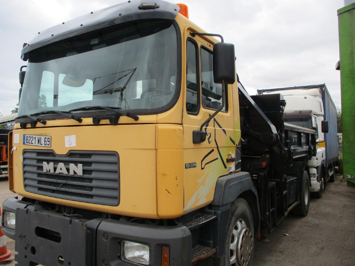 Camion MAN 19.314 Benne Tri-benne