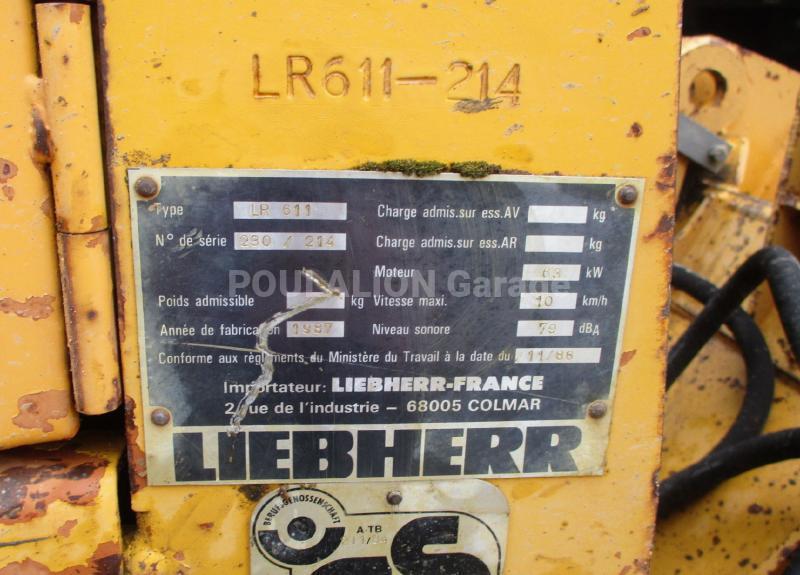 Chargeuse Liebherr LR611 Chargeuse sur chenilles