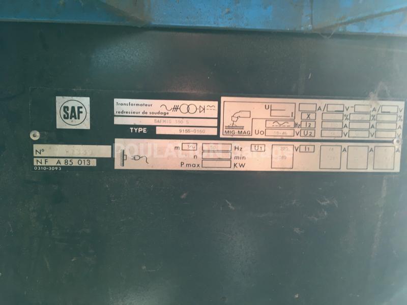 Pièces détachées Saf SafMig 380 S Autres pièces détachées