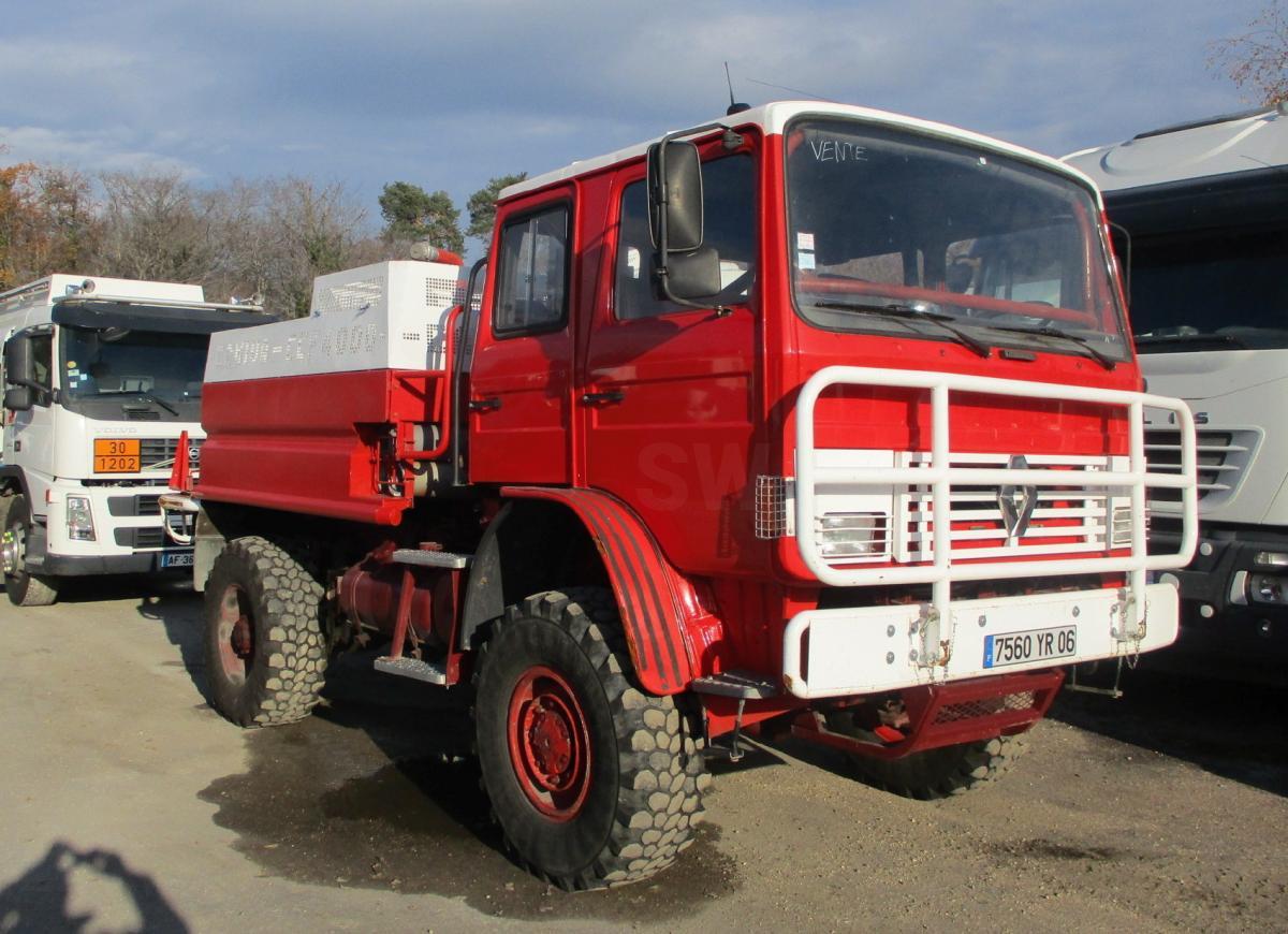 Camion Renault Gamme M 180 Véhicules spéciaux Pompiers