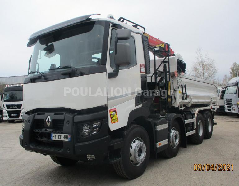 Camion Renault Gamme C C480 P 8X4 K E6 Benne Bi-benne