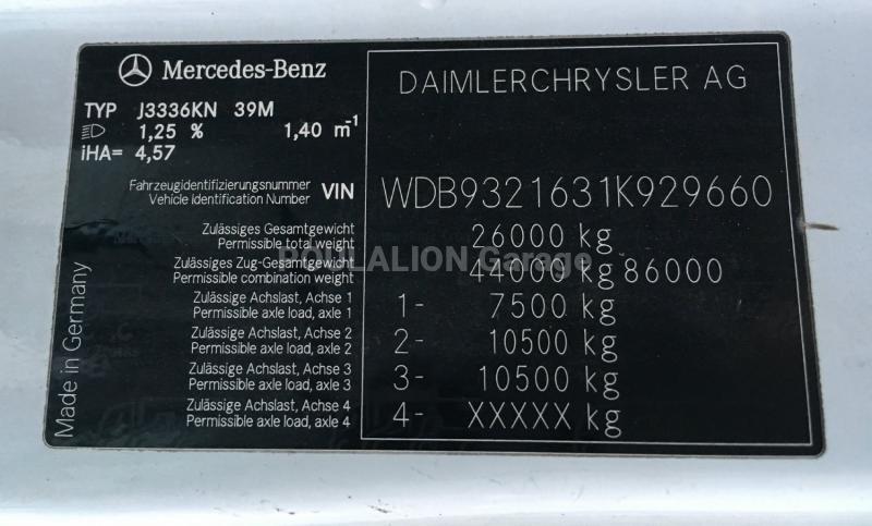Camion Mercedes Actros 3336 Benne Bi-benne