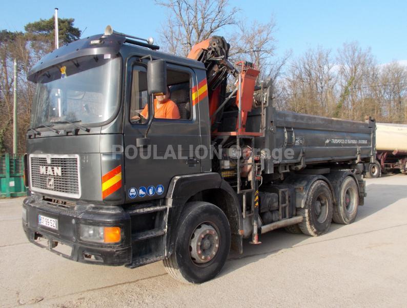 Camion MAN F2000 26.403 Benne Bi-benne