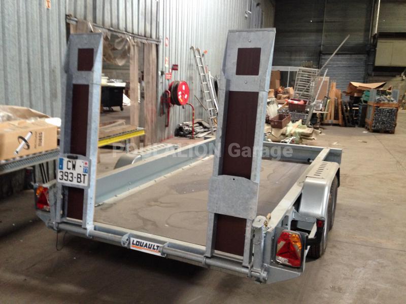 Remorque porte engins garage g rard poulalion for Garage poids lourds paris