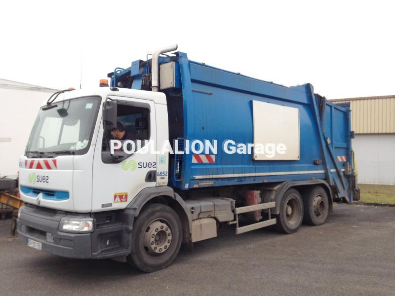 Engin de voirie Renault Premium 270 DCI Camion benne à ordures ménagères
