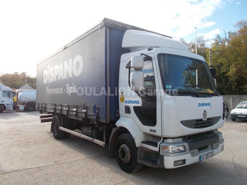 Camion Renault Midlum 220 DCI Rideaux coulissants PLSC (tautliner)