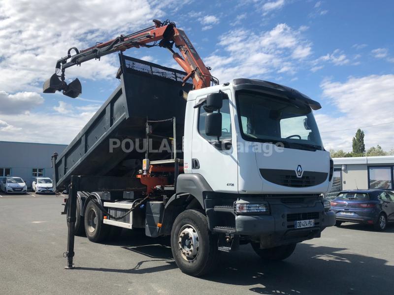 Camion Renault Kerax 410 DXI Benne Bi-benne