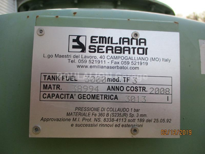Équipements TP EMILIANA SERBATOI TF3 3000 L Autre équipement TP