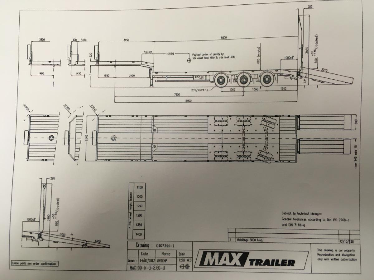 Faymonville MAX TRAILER  MAX 100