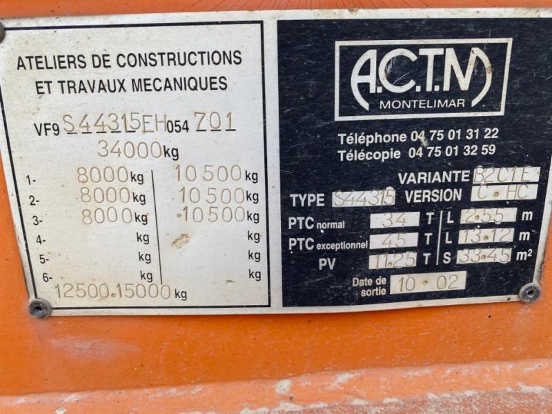 Semi-remorque ACTM S33215