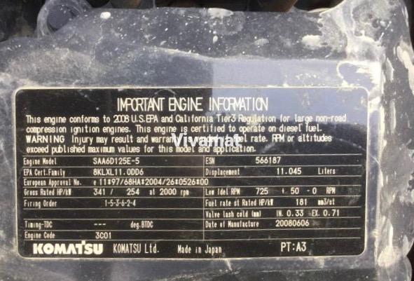Komatsu 6D125    E-5 Komatsu engine for HM300 - PC400 - PC450