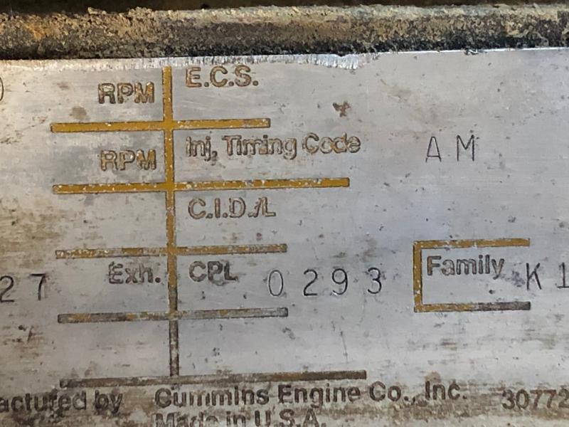 Pièces détachées Cummins KTA19C and 505/8.31845