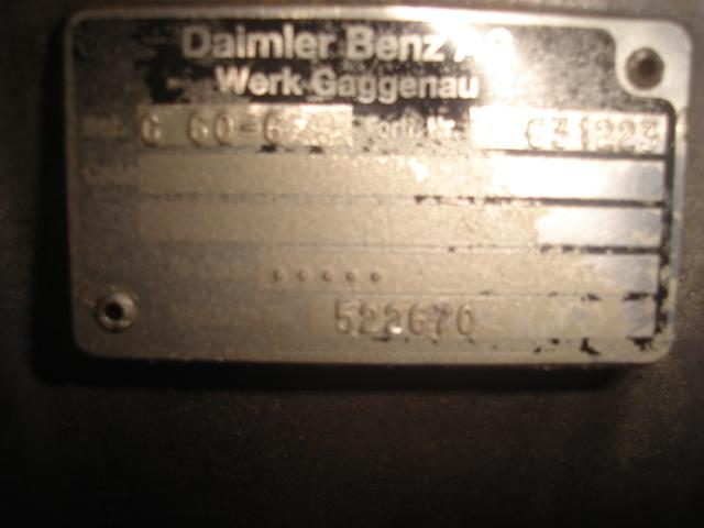 Boite de vitesse Mercedes ATEGO 815 G60-6 0331223 522670
