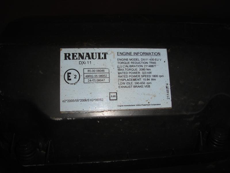 Moteur Renault MOTEUR RENAULT P430DXI