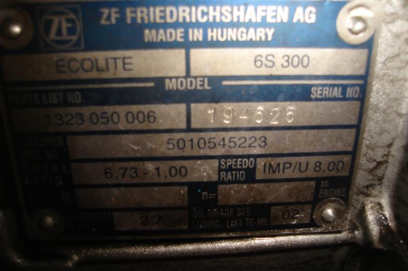Boite de vitesse Renault MASCOTT 150 DCI ECOLITE  6S300