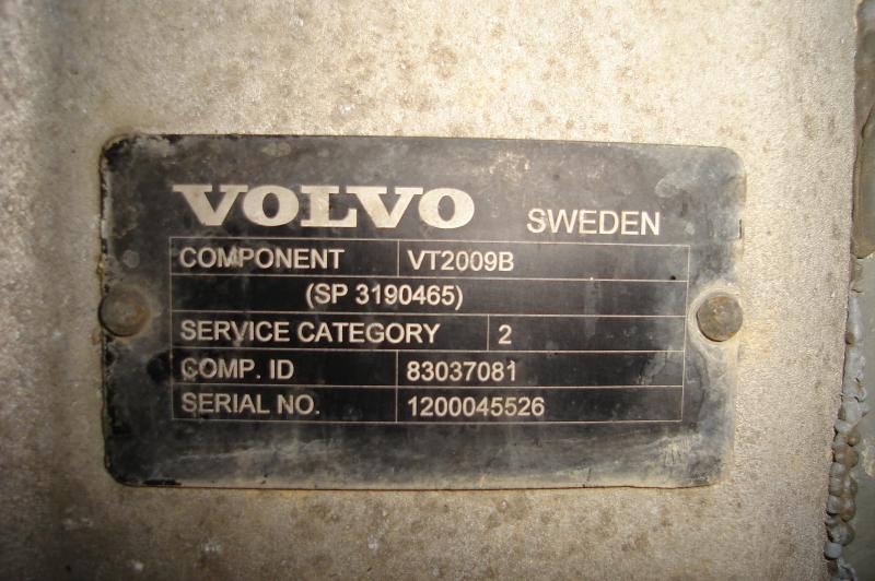 Boite de vitesse Volvo BOITE DE VITESSES VOLVO FM370