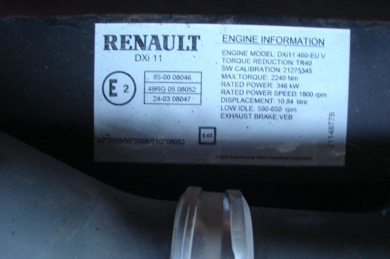 Moteur Renault MOTEUR RENAULT PREMIUM 460 DXI