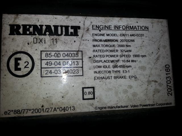 Moteur RENAULT MOTEUR RENAULT P 440 DXI
