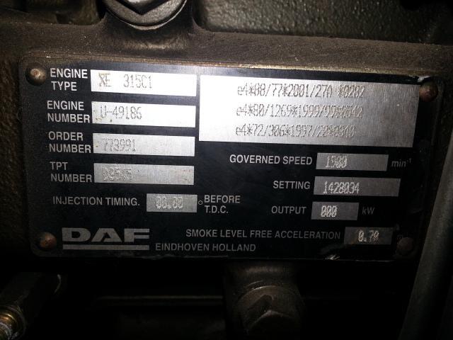 Moteur DAF MOTEUR DAF XF 95 / 430 CH / XE315C1 / 773991