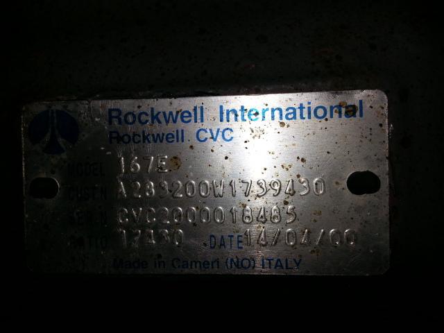 Pont VOLVO FL6 / FL 220 / NEZ PONT 167E ROCKWELL / 1/430