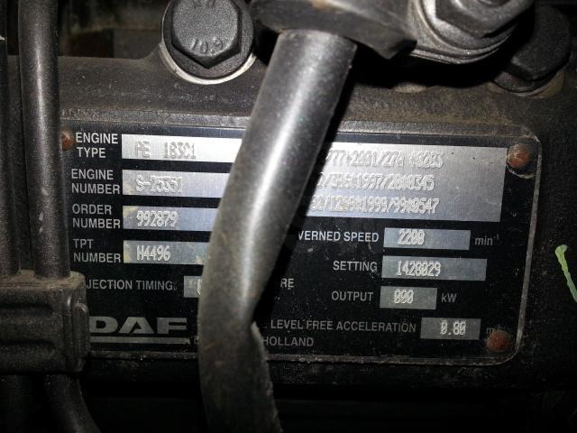 Moteur DAF MOTEUR DAF 75 250  -25351/992879/H4496